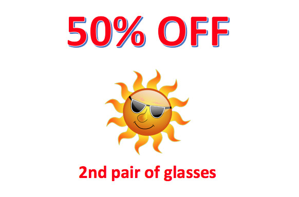 50% OFF a 2nd pair Of Glasses