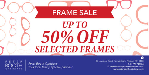 Upto 50% Off Selected Frames